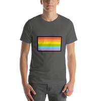 Emoji T-Shirt Store | Rainbow Flag emoji t-shirt in Dark gray