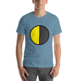 Emoji T-Shirt Store | Last Quarter Moon emoji t-shirt in Blue