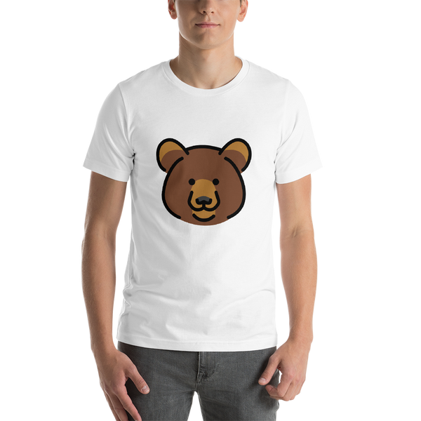 Emoji T-Shirt Store | Bear emoji t-shirt in White