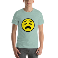 Emoji T-Shirt Store | Tired Face emoji t-shirt in Green
