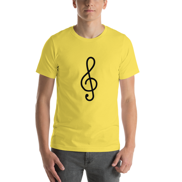 Emoji T-Shirt Store | Musical Score emoji t-shirt in Yellow