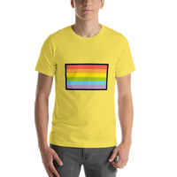 Emoji T-Shirt Store | Rainbow Flag emoji t-shirt in Yellow