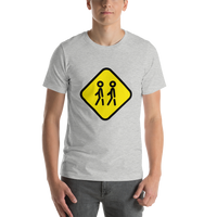 Emoji T-Shirt Store | Children Crossing emoji t-shirt in Light gray