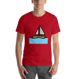 Emoji T-Shirt Store | Sailboat emoji t-shirt in Red