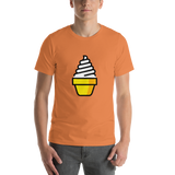 Emoji T-Shirt Store | Soft Ice Cream emoji t-shirt in Orange