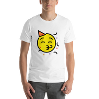 Emoji T-Shirt Store | Partying Face emoji t-shirt in White