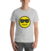 Emoji T-Shirt Store | Smiling Face With Sunglasses emoji t-shirt in Light gray