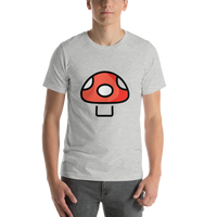 Emoji T-Shirt Store | Mushroom emoji t-shirt in Light gray