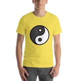 Emoji T-Shirt Store | Yin Yang emoji t-shirt in Yellow