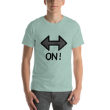 Emoji T-Shirt Store | On! Arrow emoji t-shirt in Green