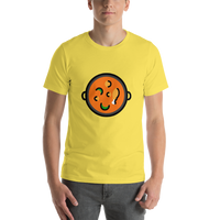Emoji T-Shirt Store | Shallow Pan Of Food emoji t-shirt in Yellow