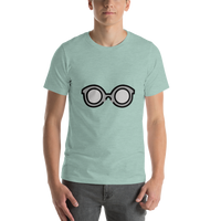 Emoji T-Shirt Store | Glasses emoji t-shirt in Green