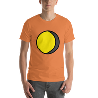 Emoji T-Shirt Store | Waning Gibbous Moon emoji t-shirt in Orange
