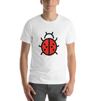 Emoji T-Shirt Store | Lady Beetle emoji t-shirt in White
