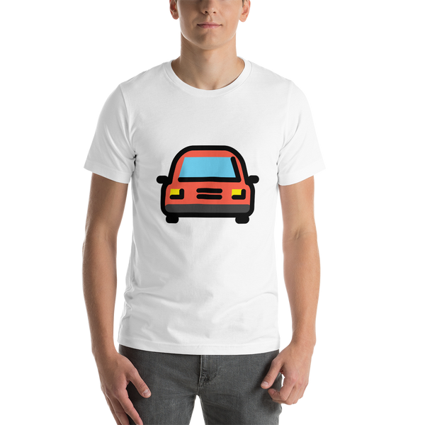 Emoji T-Shirt Store | Oncoming Automobile emoji t-shirt in White