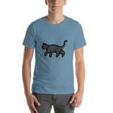 Emoji T-Shirt Store | Black Cat emoji t-shirt in Blue