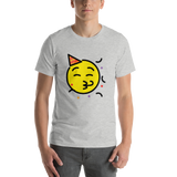 Emoji T-Shirt Store | Partying Face emoji t-shirt in Light gray