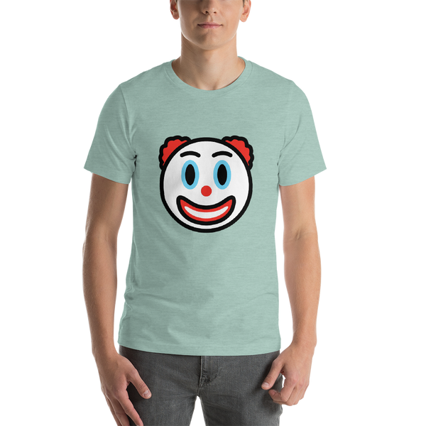 Emoji T-Shirt Store | Clown Face emoji t-shirt in Green