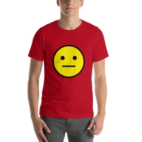 Emoji T-Shirt Store | Neutral Face emoji t-shirt in Red