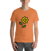 Emoji T-Shirt Store | Sunflower emoji t-shirt in Orange