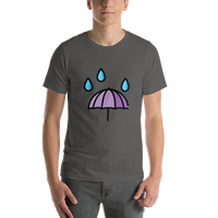 Emoji T-Shirt Store | Umbrella With Rain Drops emoji t-shirt in Dark gray