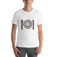 Emoji T-Shirt Store | Fork And Knife With Plate emoji t-shirt in White