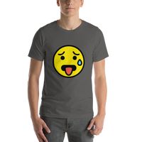 Emoji T-Shirt Store | Hot Face emoji t-shirt in Dark gray