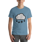 Emoji T-Shirt Store | Cloud With Snow emoji t-shirt in Blue