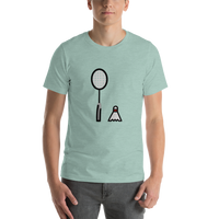 Emoji T-Shirt Store | Badminton emoji t-shirt in Green