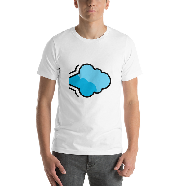 Emoji T-Shirt Store | Dashing Away emoji t-shirt in White