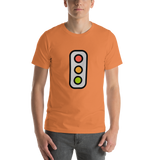 Emoji T-Shirt Store | Vertical Traffic Light emoji t-shirt in Orange