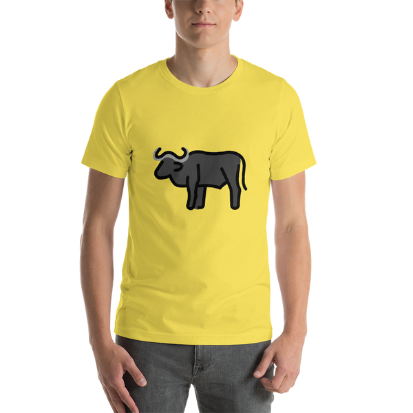Emoji T-Shirt Store | Water Buffalo emoji t-shirt in Yellow