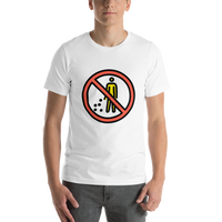 Emoji T-Shirt Store | No Littering emoji t-shirt in White