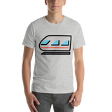 Emoji T-Shirt Store | Light Rail emoji t-shirt in Light gray