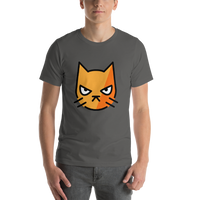 Emoji T-Shirt Store | Pouting Cat emoji t-shirt in Dark gray