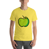 Emoji T-Shirt Store | Green Apple emoji t-shirt in Yellow