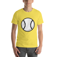 Emoji T-Shirt Store | Baseball emoji t-shirt in Yellow