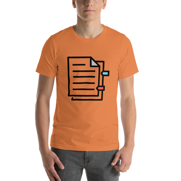 Emoji T-Shirt Store | Bookmark Tabs emoji t-shirt in Orange