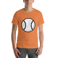 Emoji T-Shirt Store | Baseball emoji t-shirt in Orange