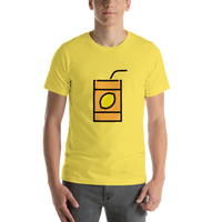 Emoji T-Shirt Store | Beverage Box emoji t-shirt in Yellow
