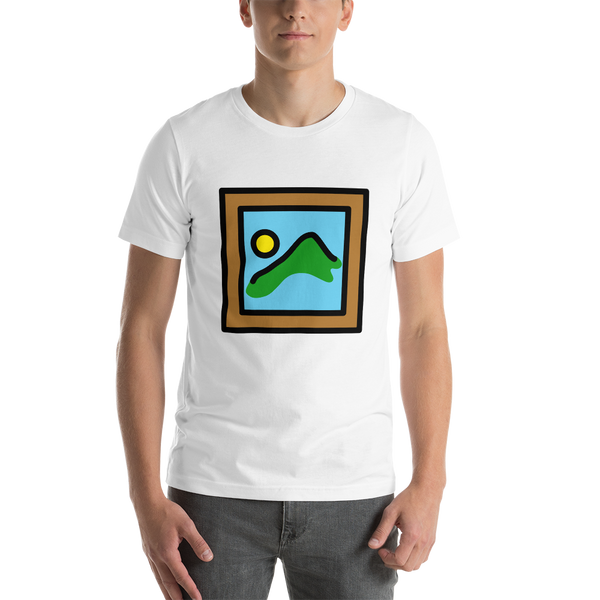 Emoji T-Shirt Store | Framed Picture emoji t-shirt in White
