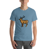 Emoji T-Shirt Store | Deer emoji t-shirt in Blue