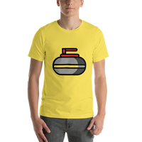 Emoji T-Shirt Store | Curling Stone emoji t-shirt in Yellow