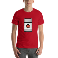 Emoji T-Shirt Store | Canned Food emoji t-shirt in Red