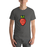 Emoji T-Shirt Store | Strawberry emoji t-shirt in Dark gray