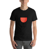Emoji T-Shirt Store | Wine Glass emoji t-shirt in Black
