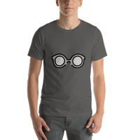 Emoji T-Shirt Store | Glasses emoji t-shirt in Dark gray