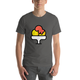 Emoji T-Shirt Store | Shaved Ice emoji t-shirt in Dark gray