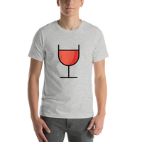 Emoji T-Shirt Store | Wine Glass emoji t-shirt in Light gray