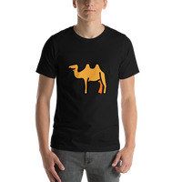 Emoji T-Shirt Store | Two-Hump Camel emoji t-shirt in Black